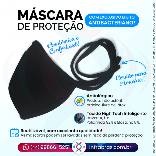 Máscara de Proteção Antibacteriana